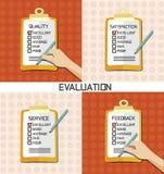 Bewertung genehmigen Qualitätskontrolle stock abbildung