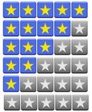 Bewertung knöpft graues Blau Stockfotografie