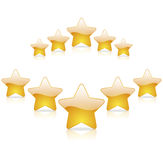 Bewertung mit fünf Sternen Stockfotos