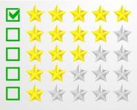 Bewertung mit fünf Sternen stock abbildung