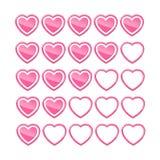 Bewertung von Herzen Stockfoto