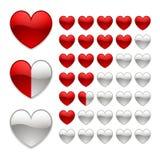 Bewertung von Herzen Lizenzfreie Stockbilder