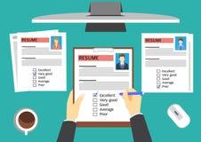 Bewertungskandidaten Stunden-Managers Lizenzfreie Stockfotografie