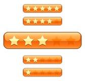 Bewertungsstäbe mit Sternen Lizenzfreies Stockbild