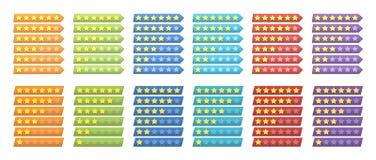 Bewertungssterne Lizenzfreie Stockbilder