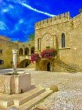 Bewijs van Grieks geschiedenisarchitectuur en art. stock foto's