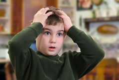 Bewildered Boy Stock Image