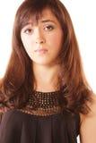 Bewildered brunette royalty free stock photo