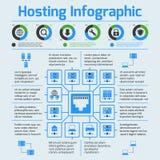 Bewirtung des infographic Satzes Lizenzfreie Stockfotos