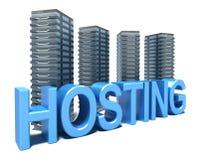 Bewirtung vor grauen Servers Stockbilder