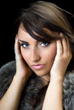 Bewitching brunette Stock Photography