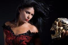 Bewitching sorceress Stock Photo