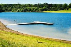 Bewl vattenbehållare, Lamberhurst, Kent, England royaltyfri fotografi
