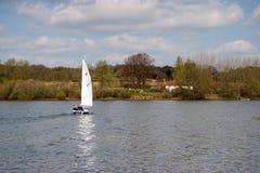 BEWL WATER RESERVOIR, LAMBERHURST/KENT - APRIL 10 : Sailing on Royalty Free Stock Photo