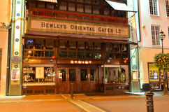 Bewley`s Oriental Cafe of Grafton Street at Night in Dublin, Ireland Royalty Free Stock Image