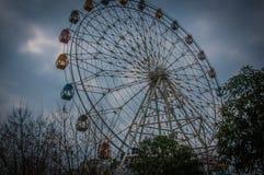 Bewölkte Tage, zum des Riesenrads zu verschieben Stockfotografie