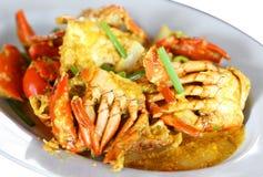 Bewogen Fried Crab Stock Afbeeldingen