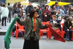 Bewohner der Stadt der La- Pazstadtfeiertagsanmerkung Stockbilder