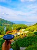 Bewohner von Burgund leben mit einer schönen Aussicht stockfoto
