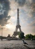 Bewolking in Parijs royalty-vrije stock fotografie