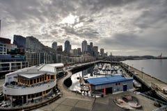 Bewolking in Seattle royalty-vrije stock afbeelding
