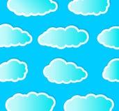 Bewolkt stock illustratie