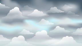 Bewolkt beeld 3 van het hemelthema stock illustratie