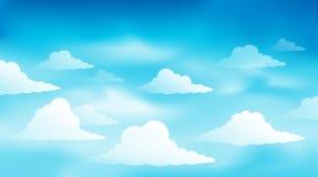 Bewolkt beeld 1 van het hemelthema stock illustratie