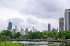Bewolkt Chicago Stock Afbeelding