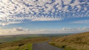 Bewolkt landschap in de Dallen van Yorkshire, het UK stock afbeelding