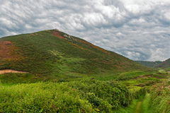 Bewolkt Landschap in Normandië Stock Afbeelding