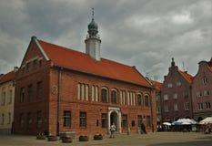 Bewolkt in Olsztyn stock afbeeldingen