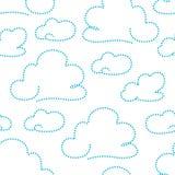Bewolkt patroon vector illustratie