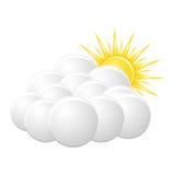 Bewolkt pictogram royalty-vrije illustratie
