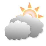 Bewolkt weerpictogram vector illustratie