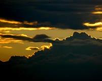 Bewolkte avond Stock Afbeelding