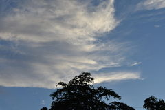 Bewolkte beelden stock afbeelding