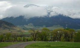 Bewolkte bergmening Stock Fotografie