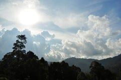 Bewolkte blauwe hemel Stock Afbeelding