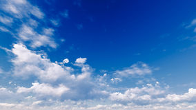 Bewolkte blauwe hemel abstracte achtergrond, 3d illustratie Royalty-vrije Stock Foto