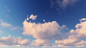 Bewolkte blauwe hemel abstracte achtergrond, 3d illustratie Stock Afbeeldingen