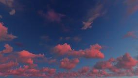 Bewolkte blauwe hemel abstracte achtergrond, 3d illustratie Stock Foto's