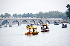 Bewolkte Dag bij de Zomerpaleis, Peking, China royalty-vrije stock afbeelding