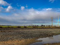 Bewolkte Dag in Centraal Modesto stock foto