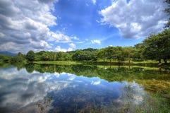 Bewolkte Dag in het Kruidenmeer stock afbeeldingen