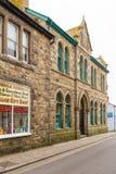 Bewolkte dag in Marazion, Cornwall, het UK stock foto's