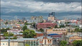 Bewolkte dag Samara stock videobeelden