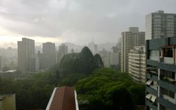 Bewolkte dag in Sao Paulo, Brazilië Stock Foto's