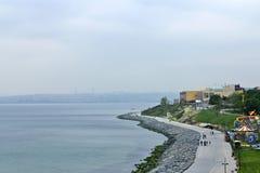 Bewolkte dag van Ä°stanbul Bosphorus Royalty-vrije Stock Fotografie