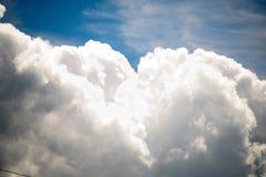 Bewolkte de zomerhemel Stock Afbeeldingen